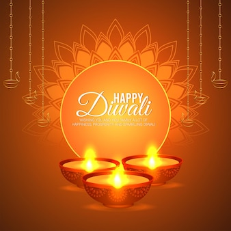 Ilustração em vetor criativo feliz fundo diwali