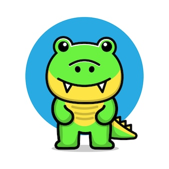 Ilustração em vetor crocodilo fofo