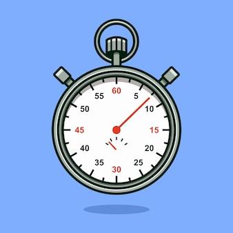 Ilustração em vetor cronômetro e cronômetro em estilo cartoon