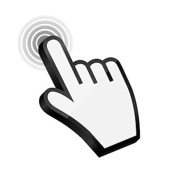 Ilustração em vetor cursor mão do mouse. eps10