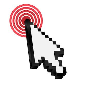 Ilustração em vetor cursor seta do mouse. eps10
