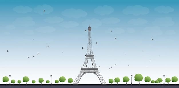 Ilustração em vetor da torre eiffel