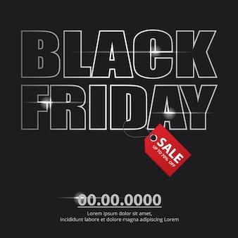 Ilustração em vetor de banner de venda de sexta-feira negra