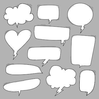 Ilustração em vetor de bolhas do discurso em quadrinhos
