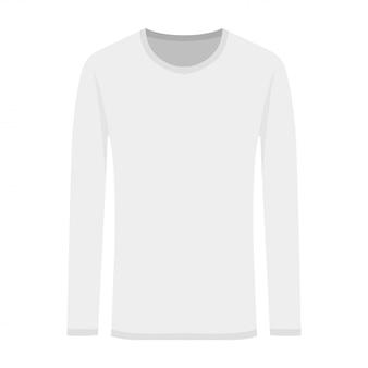 Ilustração em vetor de branco de mangas compridas em estilo simples
