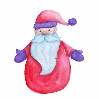 Ilustração em vetor de brinquedo de papai noel em aquarela