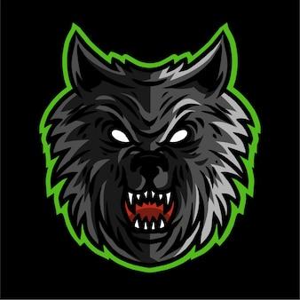 Ilustração em vetor de cabeça de lobos