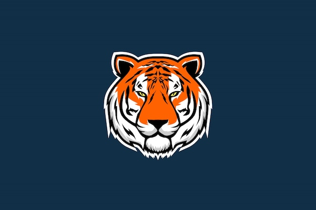 Ilustração em vetor de cabeça de tigre