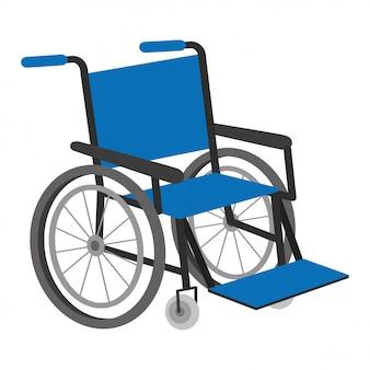 Ilustração em vetor de cadeira de rodas