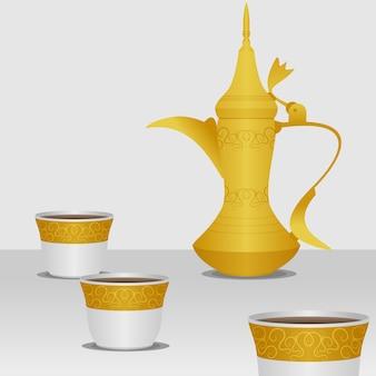 Ilustração em vetor de café árabe editável
