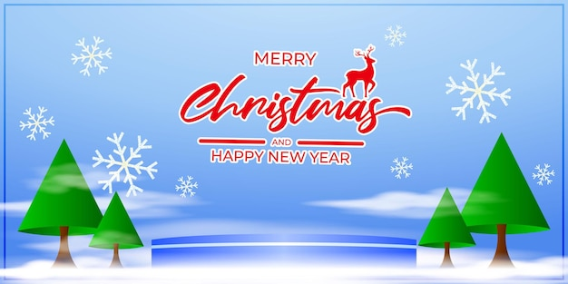 Ilustração em vetor de cartão de feliz natal