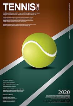 Ilustração em vetor de cartaz de campeonato de tênis