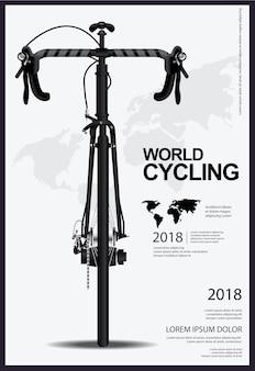 Ilustração em vetor de cartaz de ciclismo