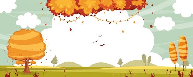 Ilustração em vetor de cena da natureza
