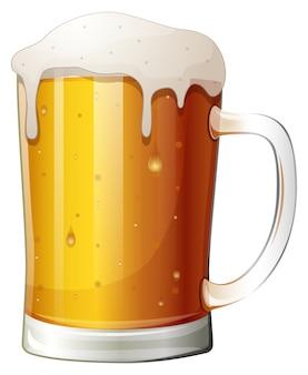 Ilustração em vetor de cerveja de caneca em um fundo branco
