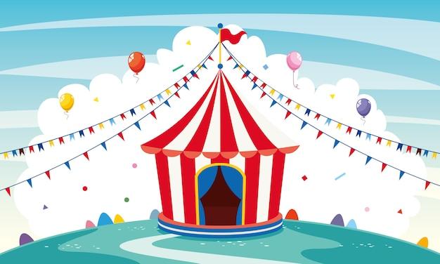 Ilustração em vetor de circo