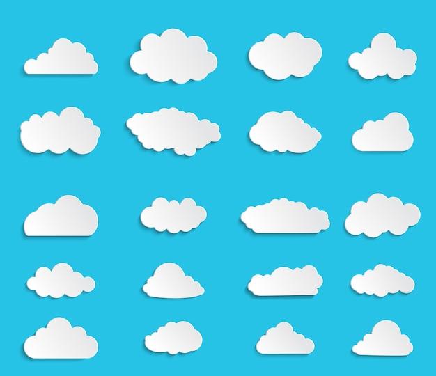 Ilustração em vetor de coleção de nuvens