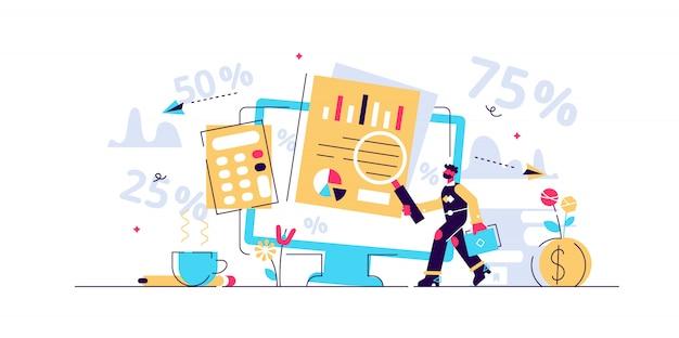Ilustração em vetor de contabilidade.