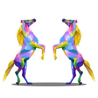 Ilustração em vetor de corpo inteiro de cavalo
