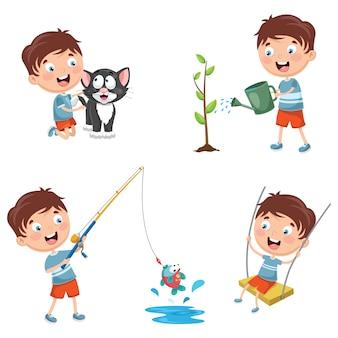 Ilustração em vetor de criança