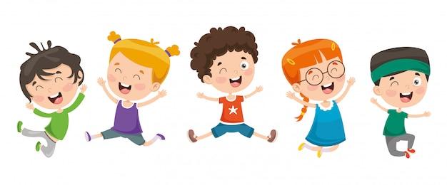 Ilustração em vetor de crianças