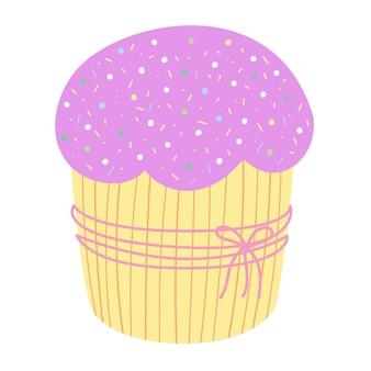 Ilustração em vetor de cupcake de férias fofa