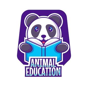Ilustração em vetor de desenho animado de logotipo de mascote fofo