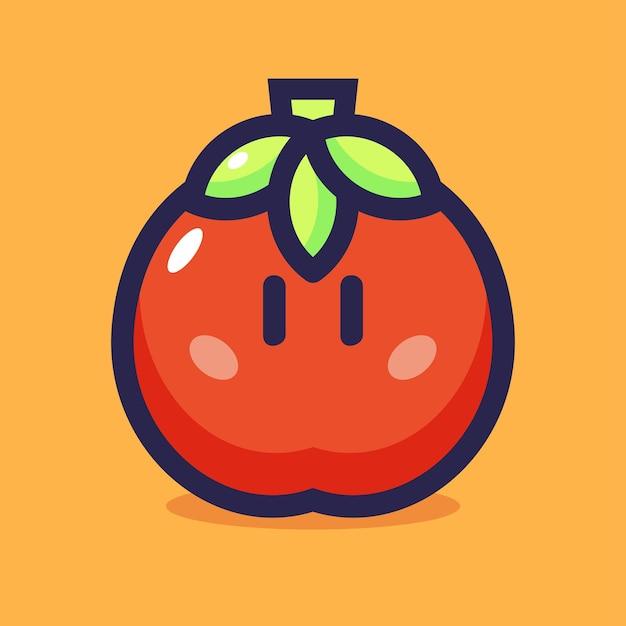 Ilustração em vetor de desenho de tomate