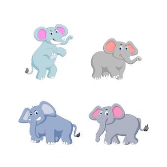 Ilustração em vetor de desenhos animados de elefante