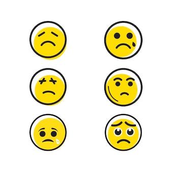 Ilustração em vetor de emoção triste modelo de ilustração