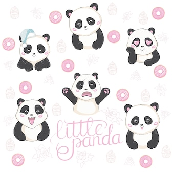 Ilustração em vetor de emoji panda.