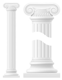 Ilustração em vetor de estoque de coluna antiga