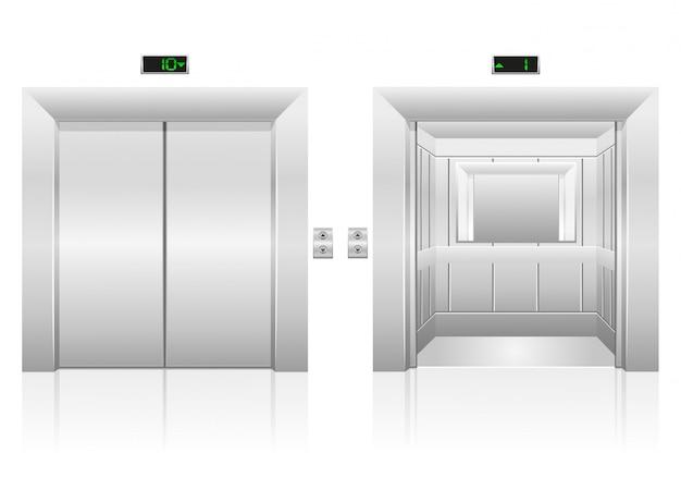 Ilustração em vetor de estoque de elevador de passageiros