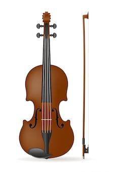 Ilustração em vetor de estoque de violino
