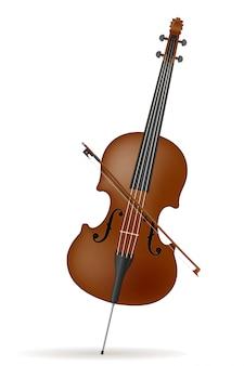 Ilustração em vetor de estoque de violoncelo