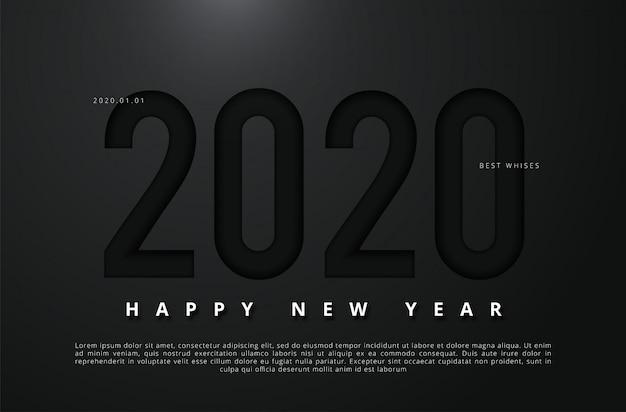 Ilustração em vetor de feliz ano novo 2020
