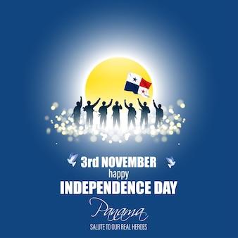 Ilustração em vetor de feliz dia da independência do panamá