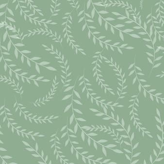 Ilustração em vetor de folhas padrão sem emenda. fundo orgânico floral. mão-extraídas textura de folha.