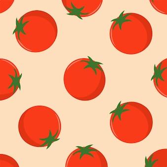 Ilustração em vetor de frutas de fundo de padrão de tomate