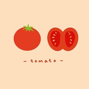 Ilustração em vetor de frutas design de símbolo de tomate vermelho