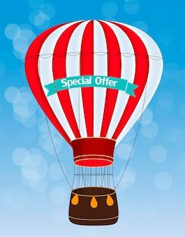 Ilustração em vetor de fundo de balão de ar