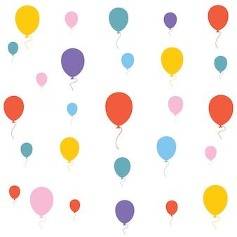 Ilustração em vetor de fundo de balões