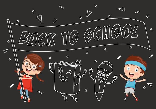 Ilustração em vetor de fundo de educação