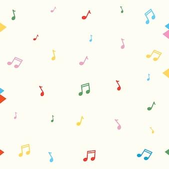 Ilustração em vetor de fundo de notas de música