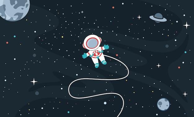 Ilustração em vetor de fundo do espaço