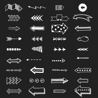 Ilustração em vetor de ícones de seta.