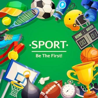 Ilustração em vetor de inventário de esporte
