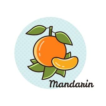 Ilustração em vetor de mandarim.