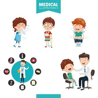 Ilustração em vetor de médicos