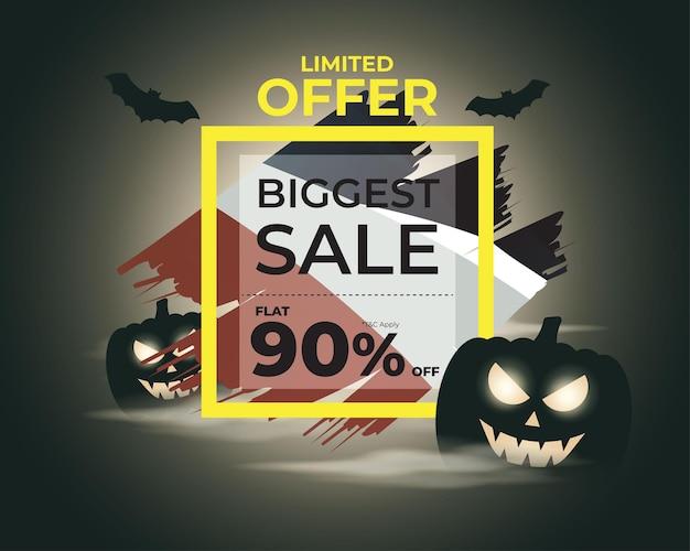 Ilustração em vetor de modelo de venda de feliz dia das bruxas